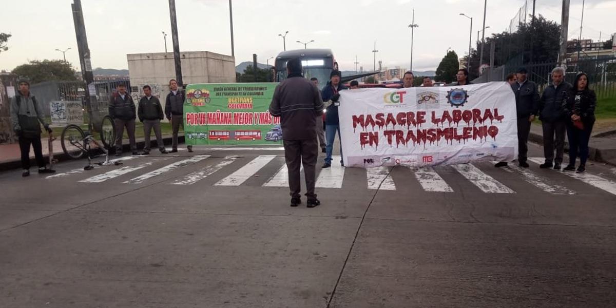 Se retoma funcionamiento de Transmilenio en Portal Suba luego de manifestaciones