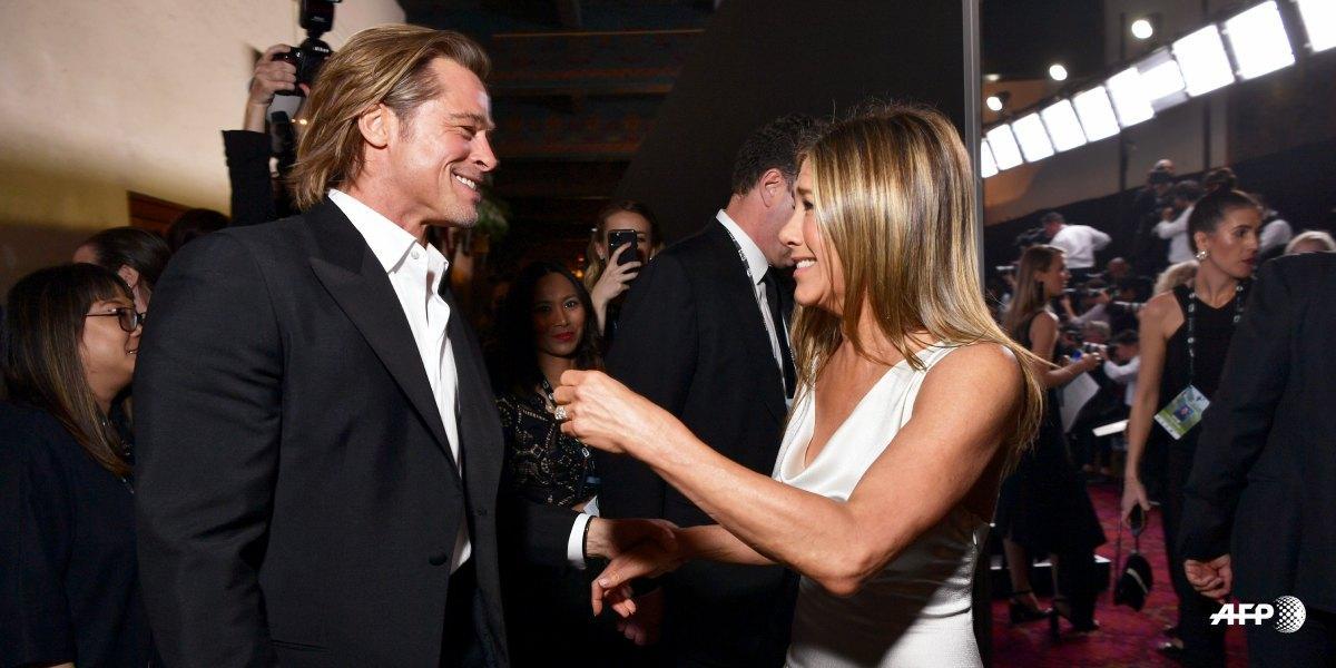 El 'romántico' reencuentro de Brad Pitt y Jennifer Aniston en los premios SAG