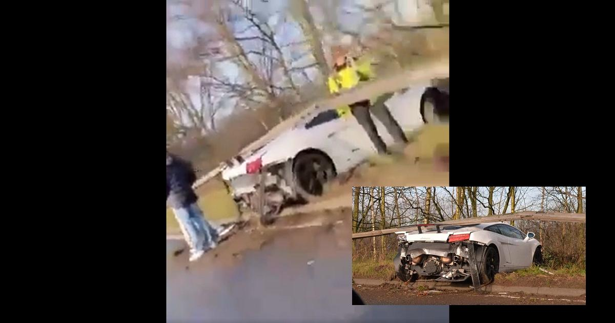(Video) Jugador del Manchester destruyó su Lamborghini en grave accidente de tránsito