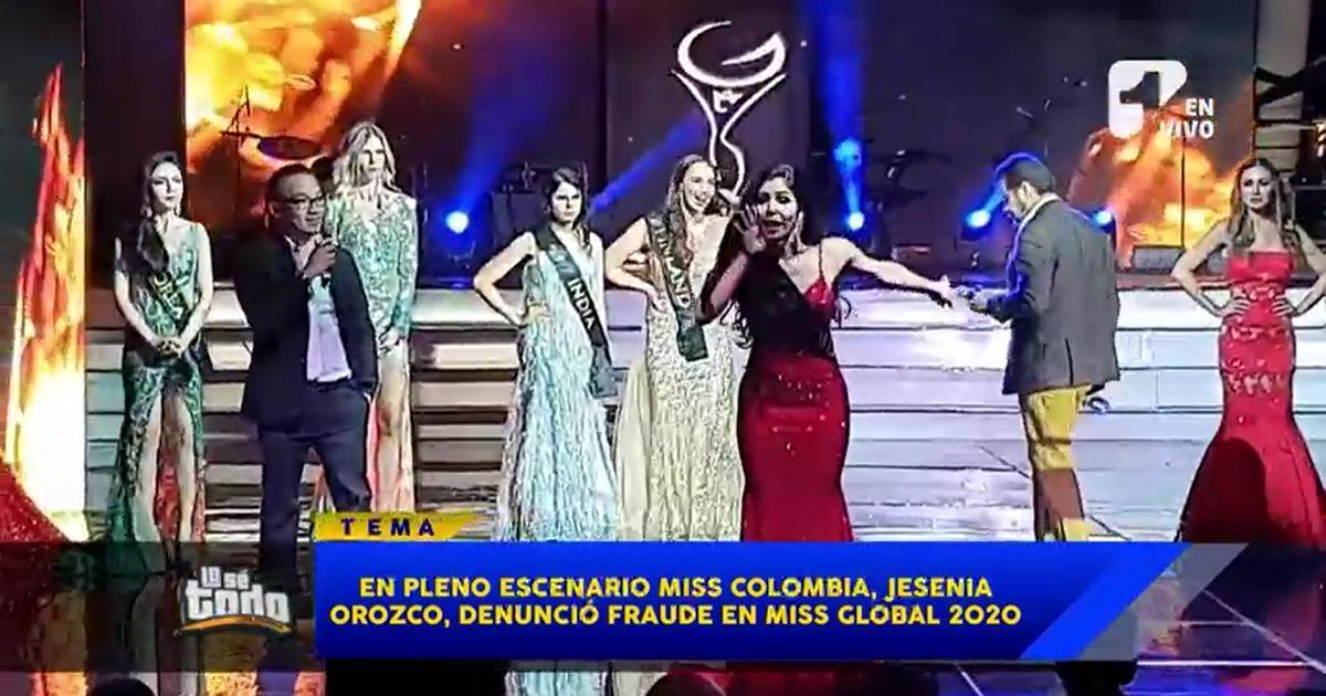 ¿Cuál fue el fraude que destapó la señorita Colombia en Miss Global 2020?