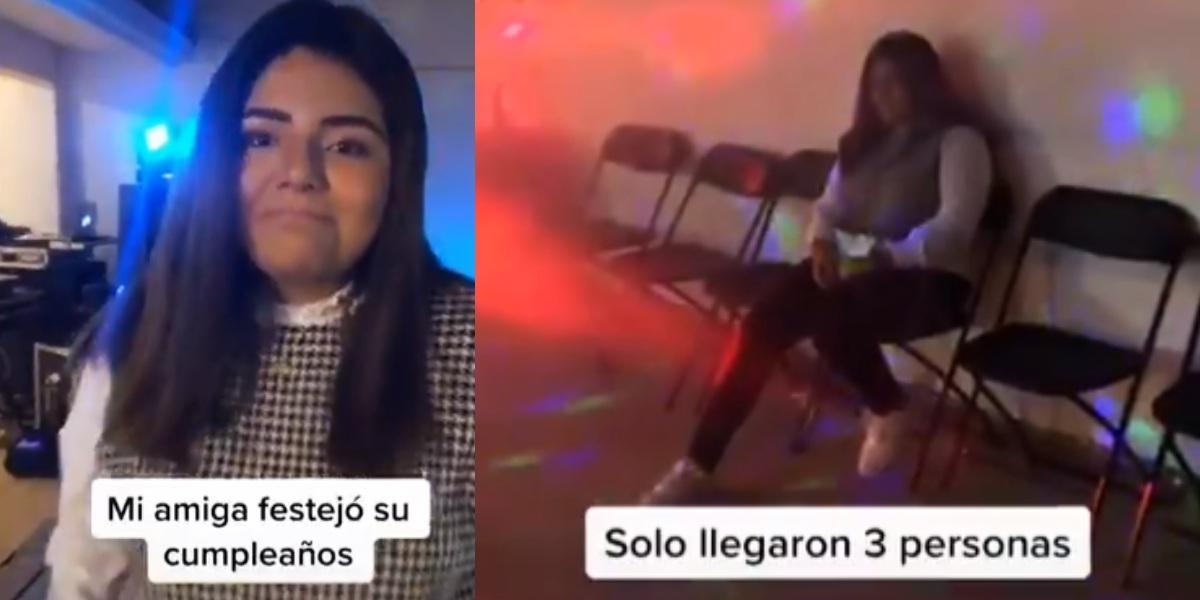 Viral: adolescente preparó gran fiesta por su cumpleaños y solo fueron 3 amigos