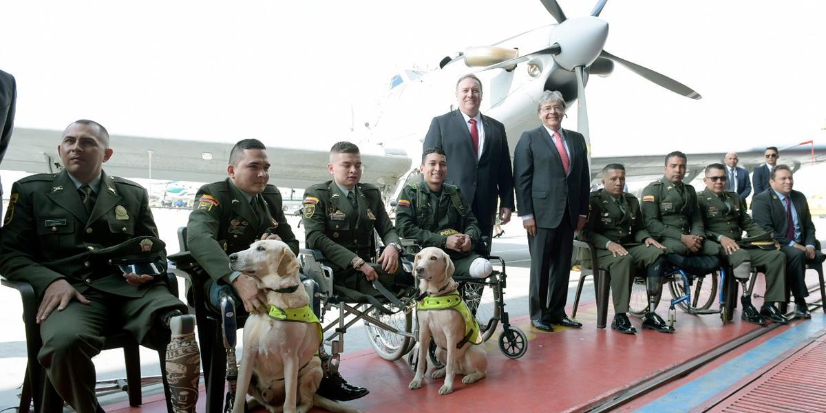 EE. UU. dará a Colombia USD$1 millón para uniformados heridos en lucha contra narcotráfico: Pompeo