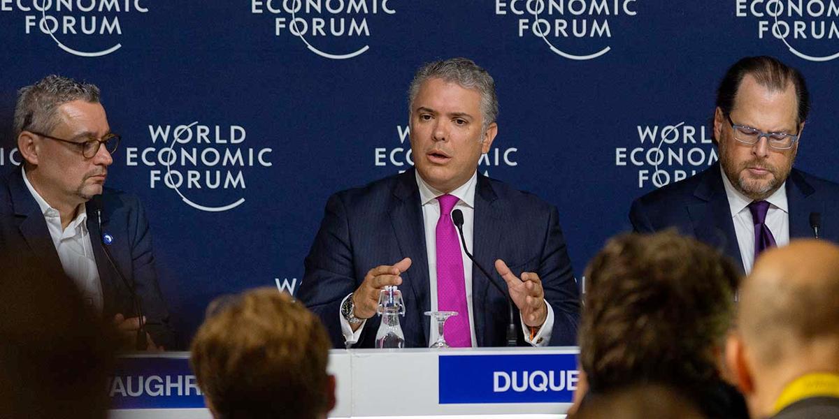 Foro Económico Mundial: presidente Duque fija meta para siembra de árboles