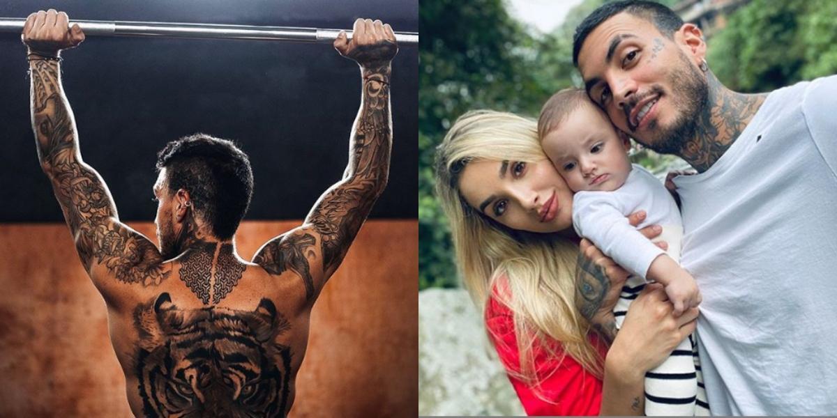 Mateo Carvajal y el increíble tatuaje en honor a su hijo