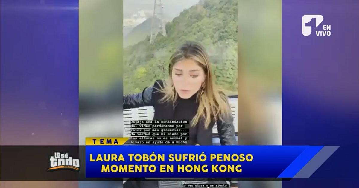 Laura Tobón en teleférico de Hong Kong recordó a la famosa 'Doña Gloria'