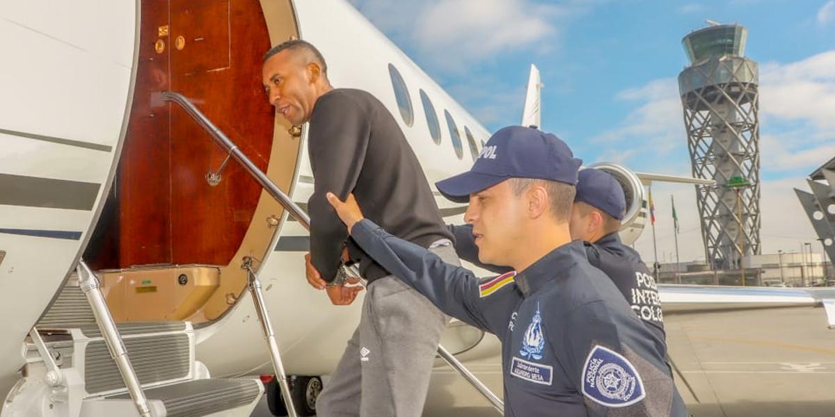 Extraditado a Estados Unidos exfutbolista Jhon Viáfara