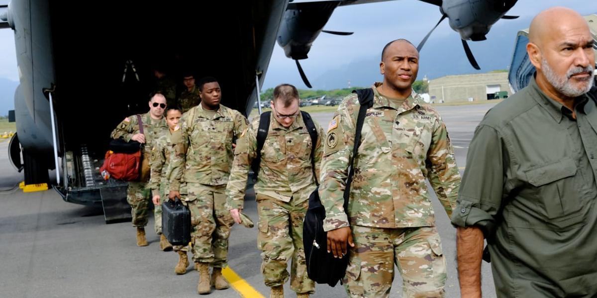 Militares norteamericanos llegaron para realizar ejercicio estratégico multinacional en Colombia