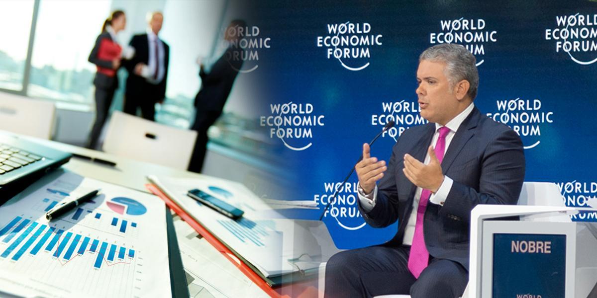 Desde Suiza, presidente dice que Colombia es un escenario atractivo para negocios en Latinoamérica