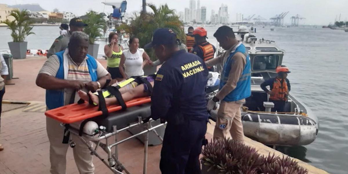 Nuevo accidente: menor sufrió fractura cuando estaba en gusano inflable de Playa Blanca