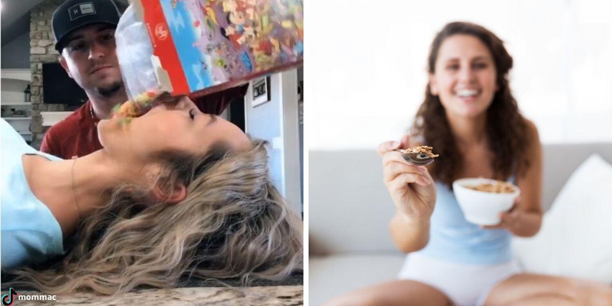 Reto del cereal o Cereal challenge viral en redes