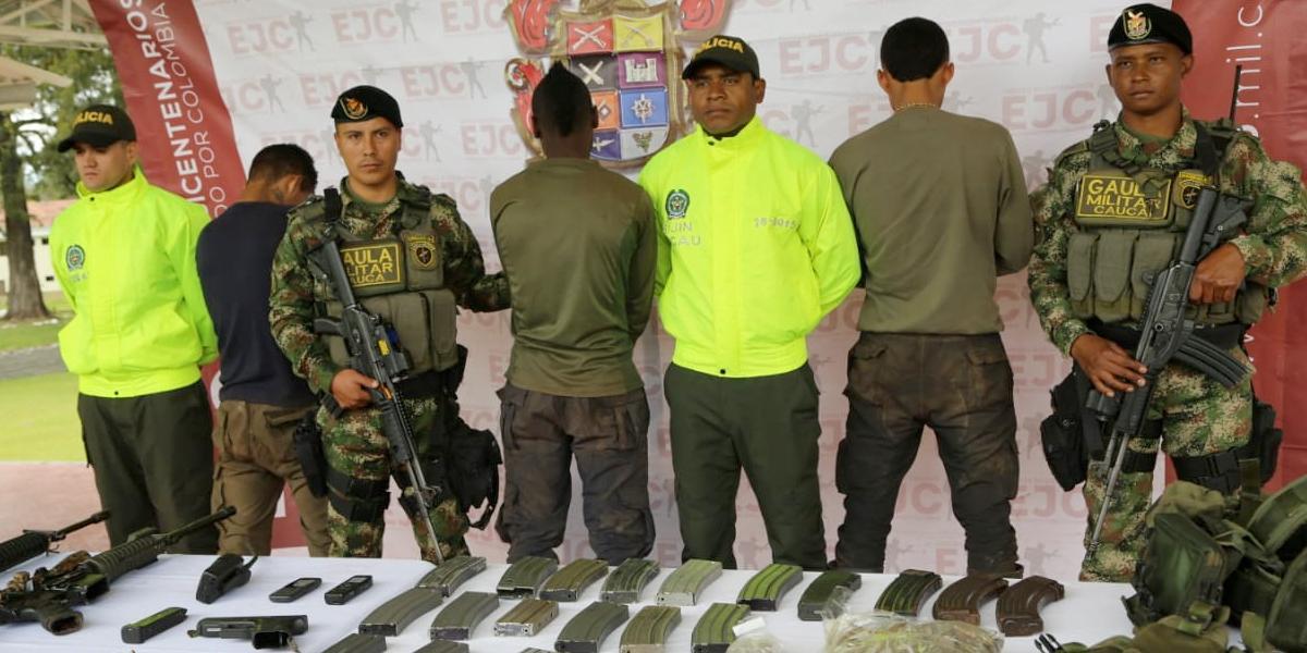 Ejército captura tres integrantes del GAO-ELN en El Tambo, Cauca