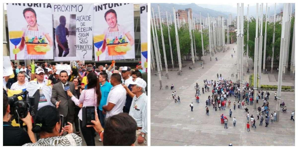 Marchas contra Daniel Quintero