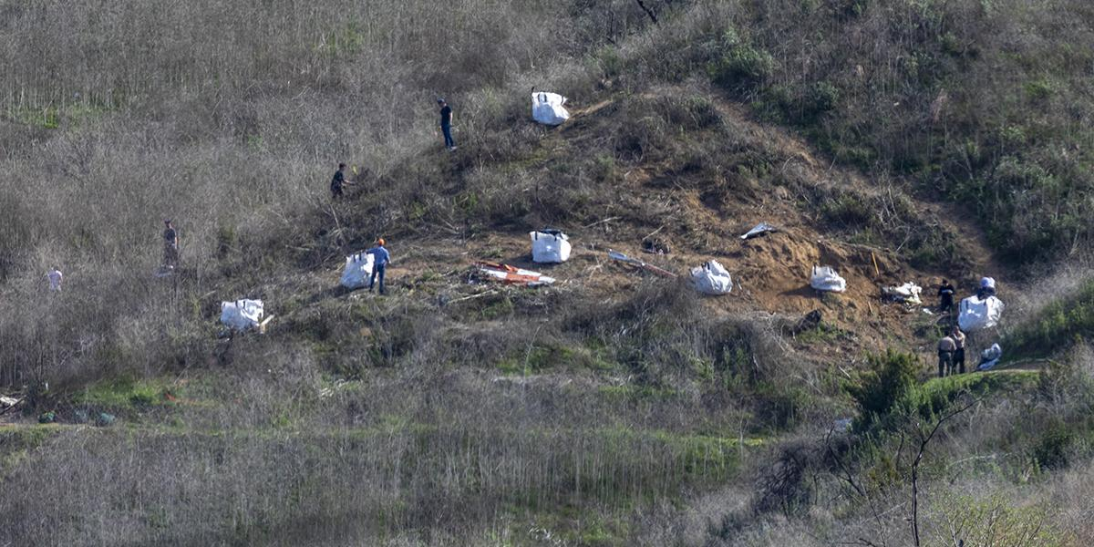 Recuperan nueve cuerpos en zona del accidente en el que murió Kobe Bryant