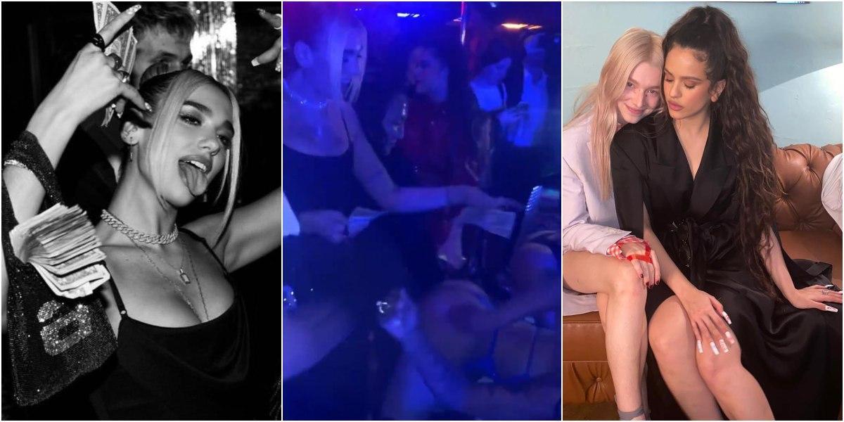 rosalia y dua lipa video en un club premios grammy