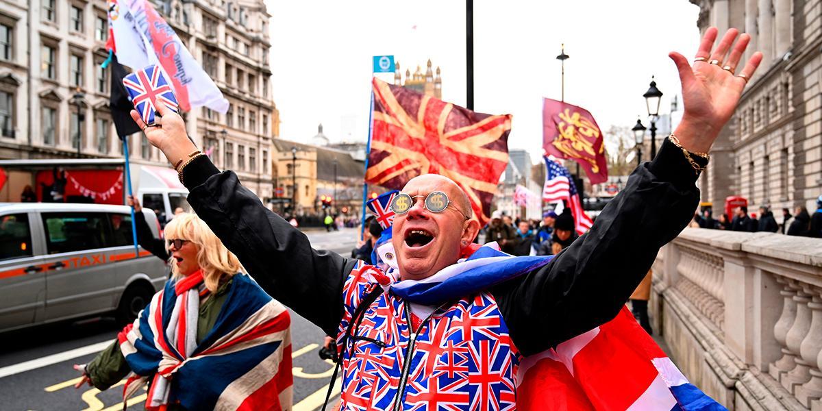 Júbilo y lágrimas: las imágenes de la despedida del Reino Unido de la Unión Europea