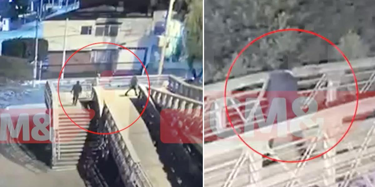 ¿Un médico sería quien mató a tres ladrones en puente peatonal de la calle 123?