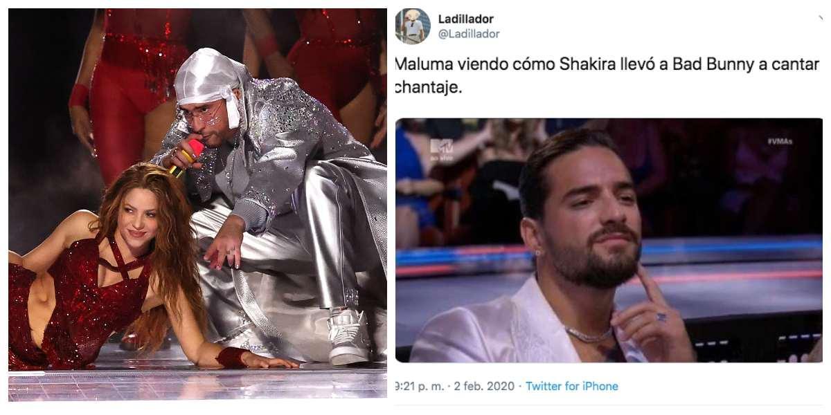 Memes Shakira, Maluma y Bad Bunny