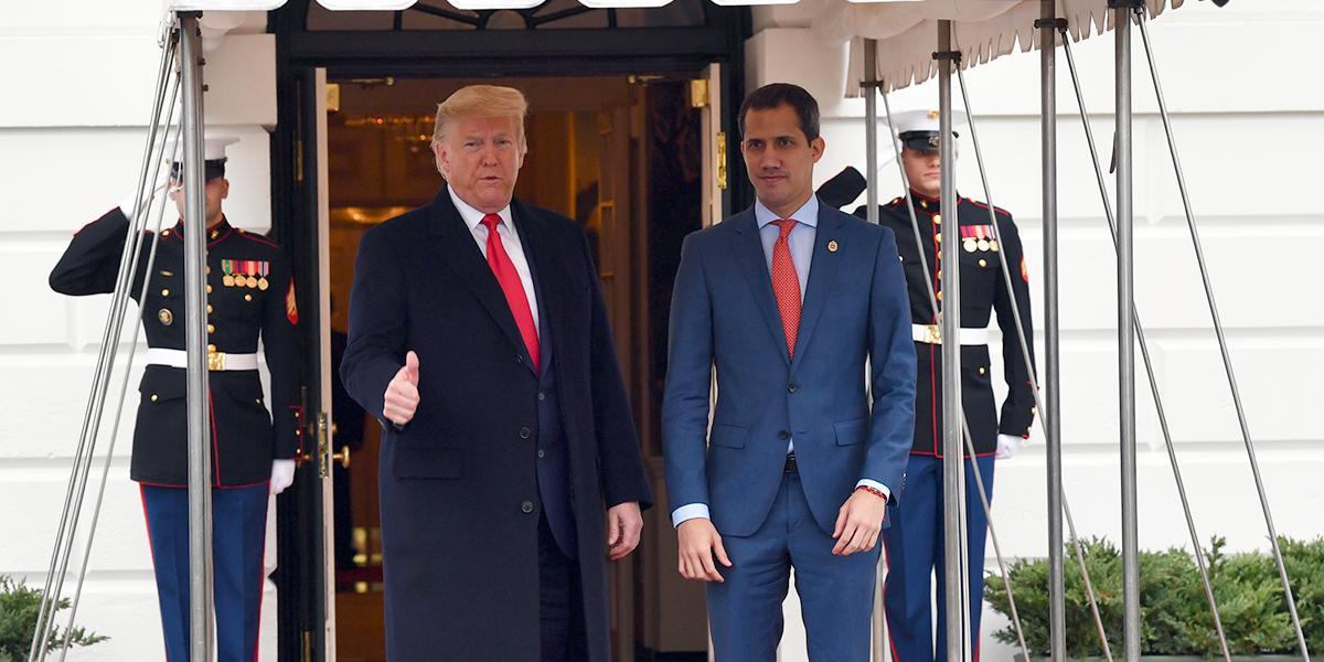 En medio de simbolismo, Guaidó es recibido en la Casa Blanca por Trump