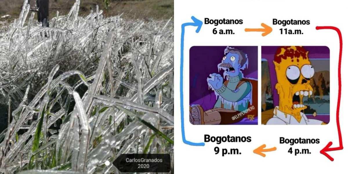 cambios de temperatura en Bogotá