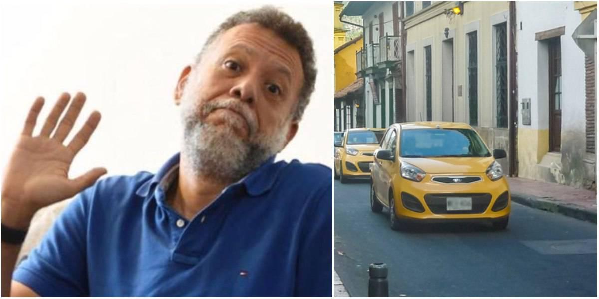 taxista estafo padre linero dia sin carro y sin moto