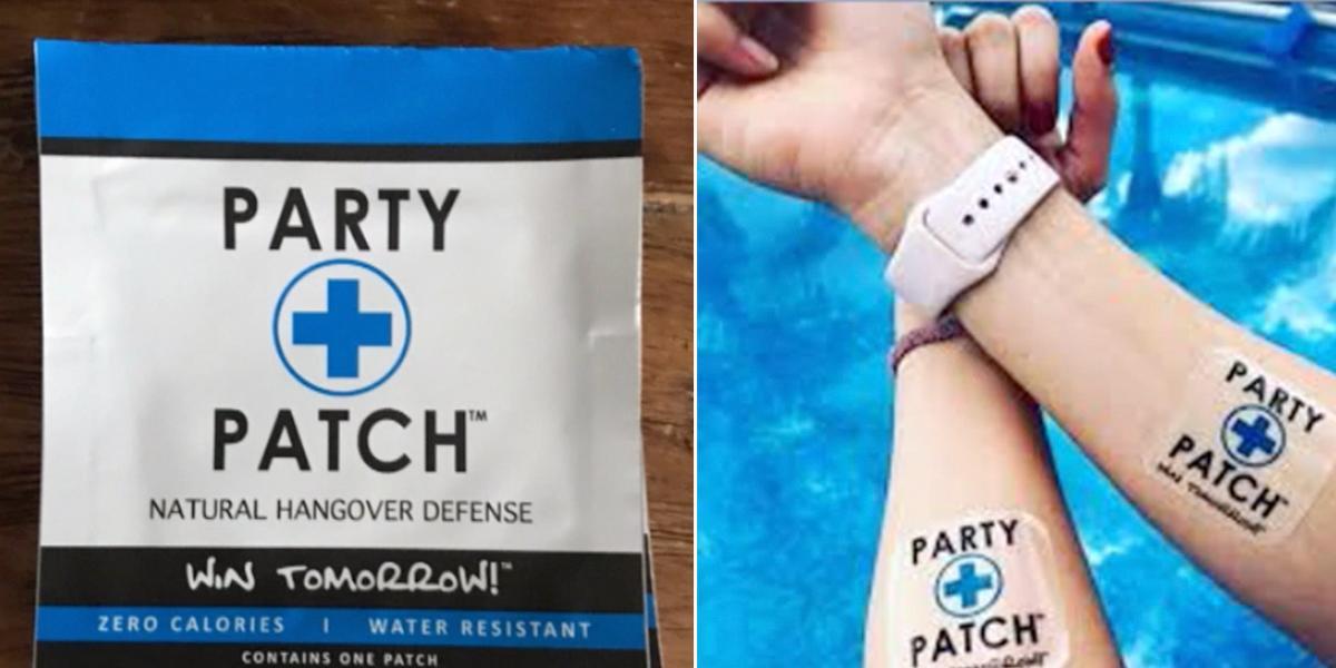 ¡Cuidado con al Party Patch!, el parche que supuestamente le quita el guayabo