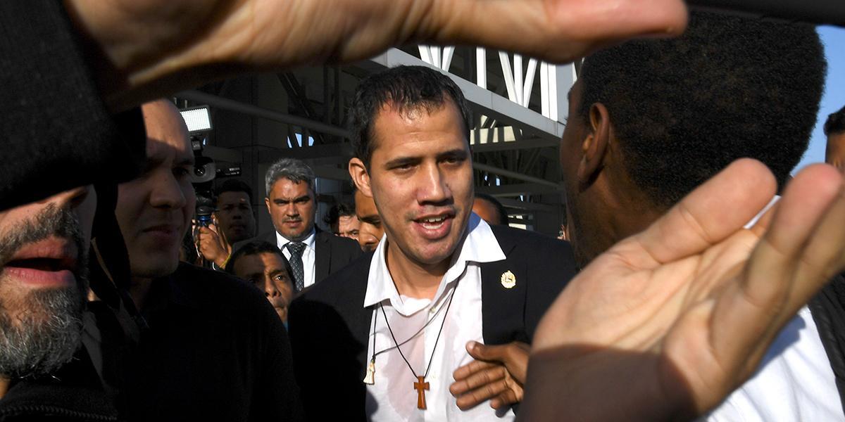 Juan Guaidó regresó a Caracas