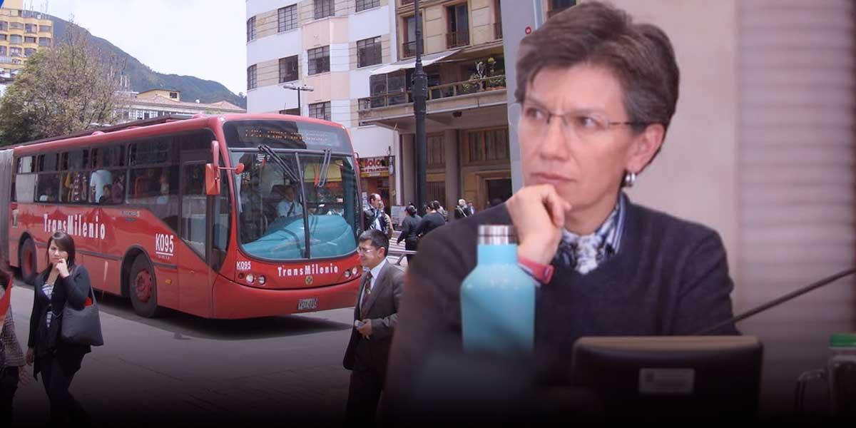 Alcaldesa Claudia López responsabiliza a administración Peñalosa por aumentos en TransMilenio