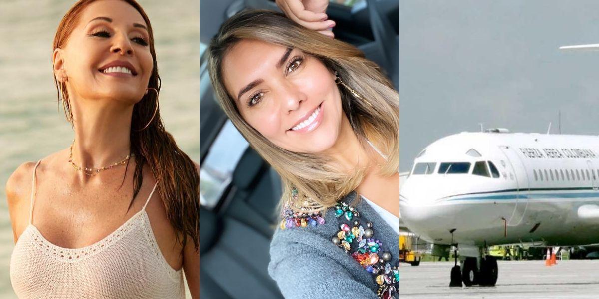 El «agarrón» de Amparo Grisales y Mónica Rodríguez por el uso del avión presidencial para una fiesta