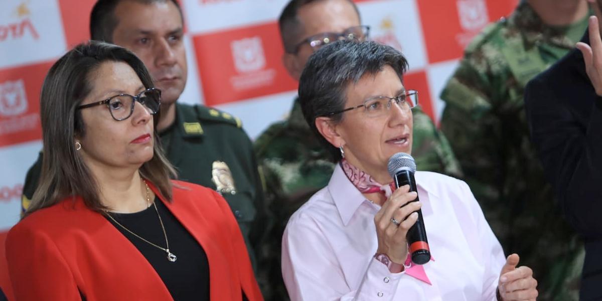 Alcaldesa de Bogotá anuncia medidas por paro armado del ELN