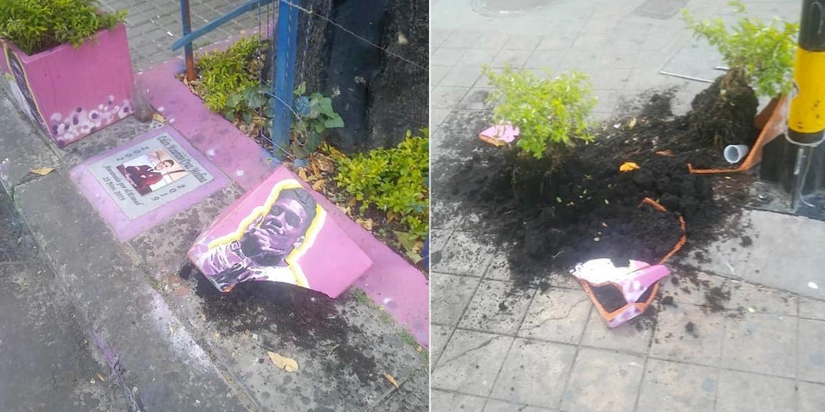 Vandalizan monumento de Dilan Cruz en el centro de Bogotá