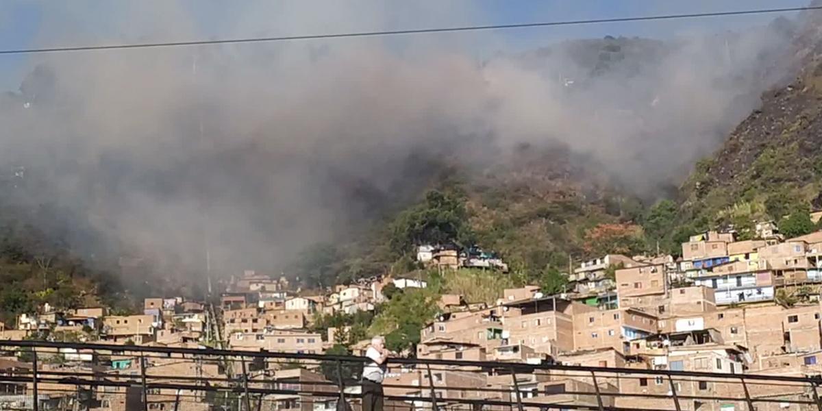 Emergencia climática por incendios en Antioquia