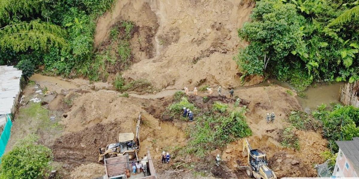 Derrumbe por lluvias deja cuatro muertos en Chinchiná, Caldas