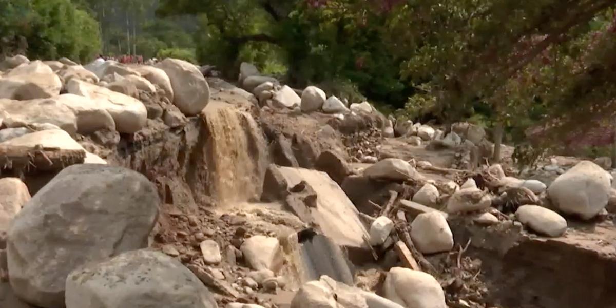 En alerta roja Santander por cuenta de las lluvias