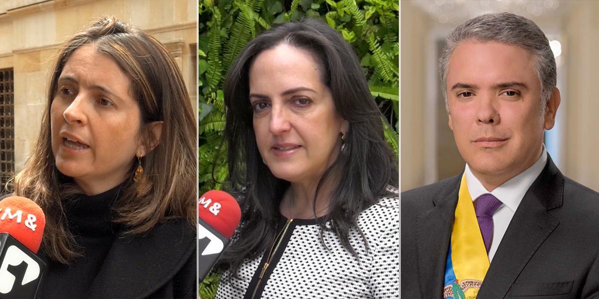 Paloma Valencia y María Fernanda Cabal piden a Duque volver a la Seguridad Democrática