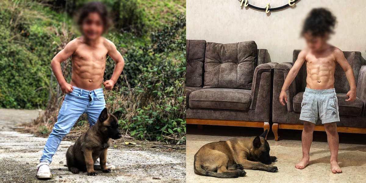 Arat Hosseini, el niño que sorprende por sus abdominales y habilidades en el fútbol