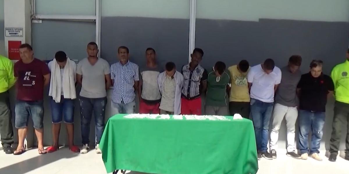 Capturaron a 'Los Intocables', una banda dedicada al microtráfico en Barranquilla