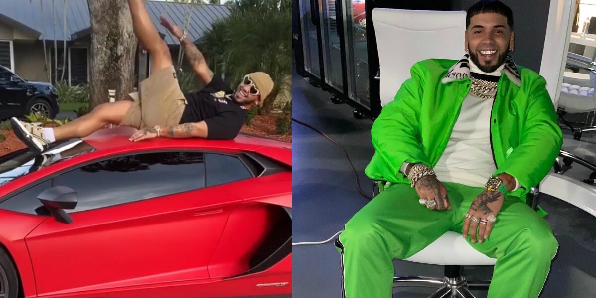 Anuel es criticado por la forma en la que hace ejercicio mientras usa sus lujosos carros