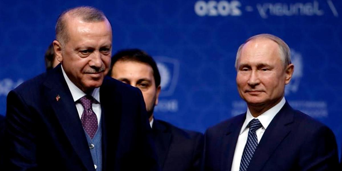 Erdogan y Putin logran acuerdo: habrá alto al fuego en Siria desde la medianoche