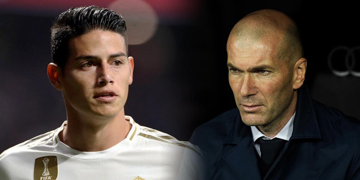 La apatía de Zidane por James hace perder hinchas de primer nivel al Real Madrid