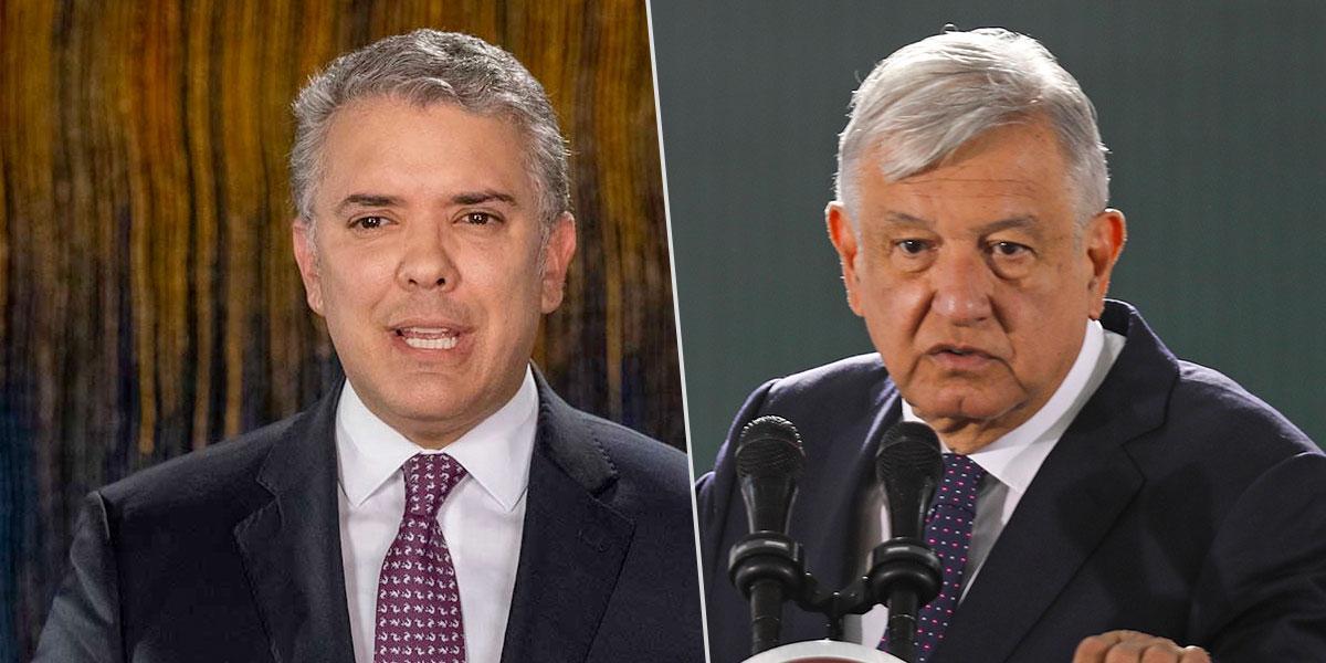 En visita oficial, presidente Duque se reúne con su homólogo López Obrador