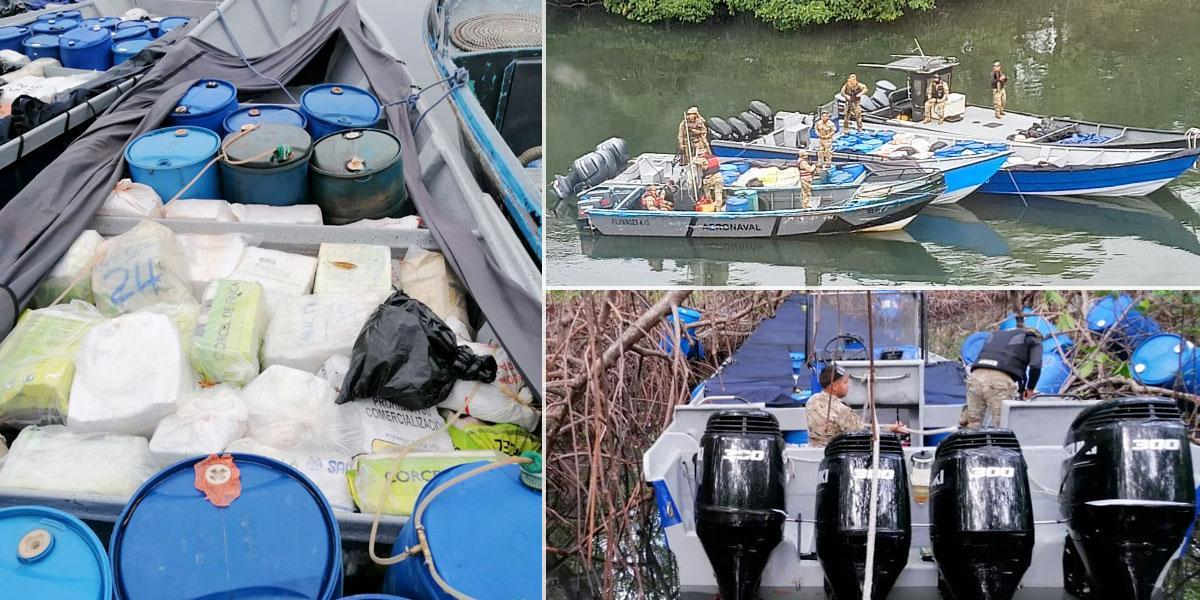 Armada de Colombia ayuda en incautación de 3.979 kilos de droga en Panamá