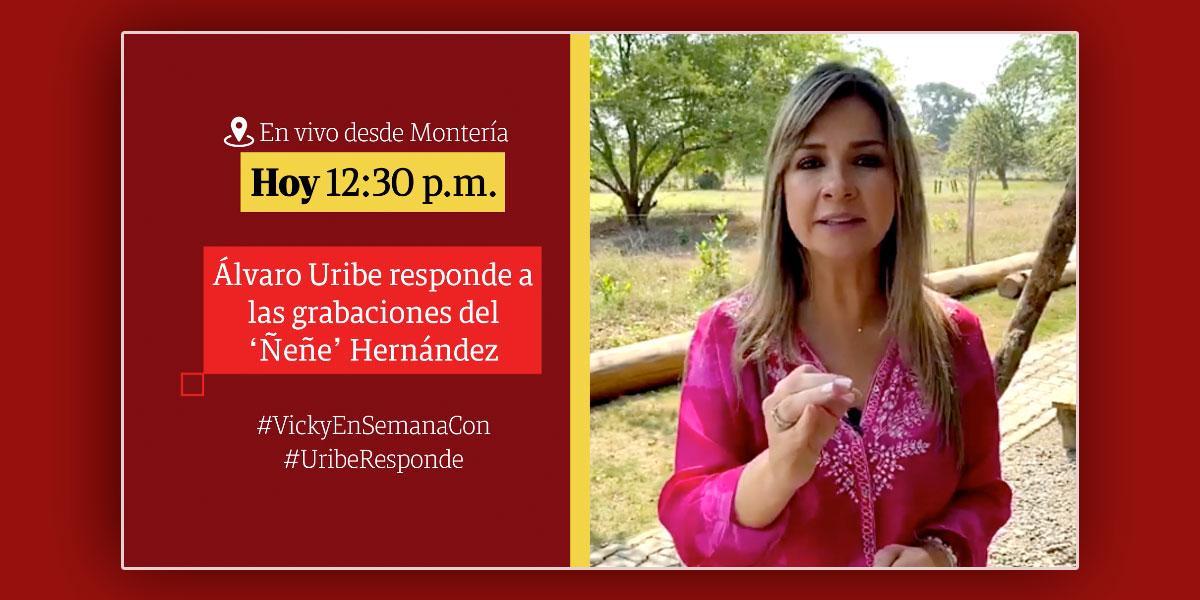 Álvaro Uribe responde todo sobre las grabaciones del 'Ñeñe' Hernández para Vicky en Semana
