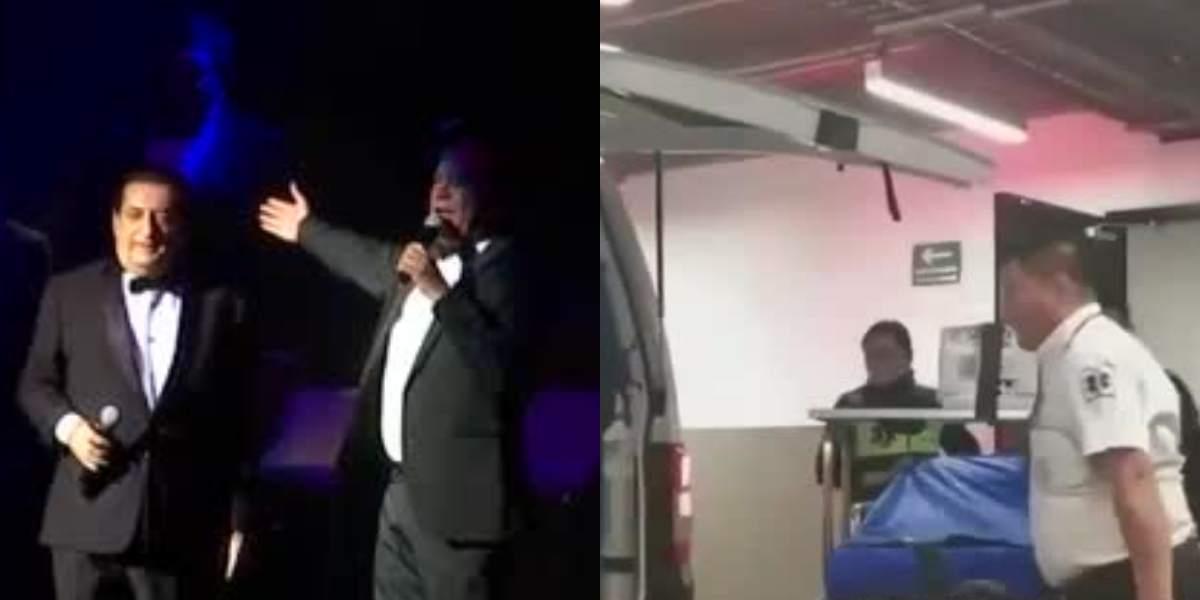 El cantante Jorge Oñate tuvo que ser sacado en ambulancia en pleno concierto