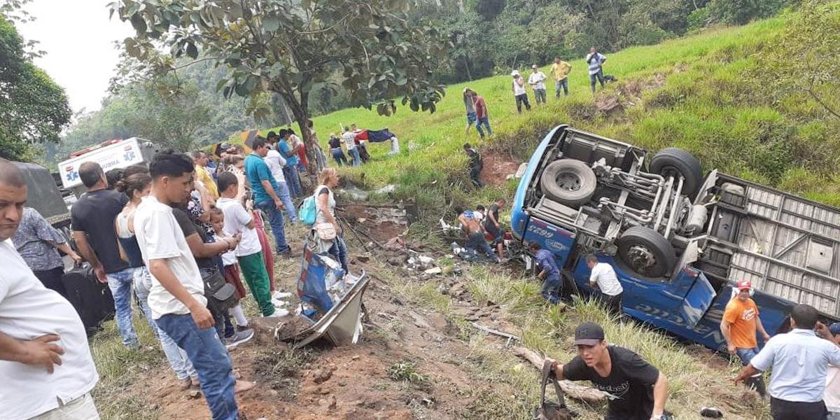 Grave accidente en Puerto Triunfo, Antioquia