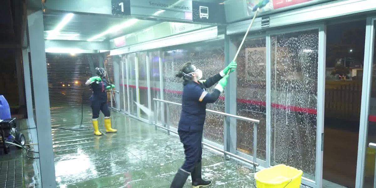 Transmilenio cerrará estaciones para labores de desinfección