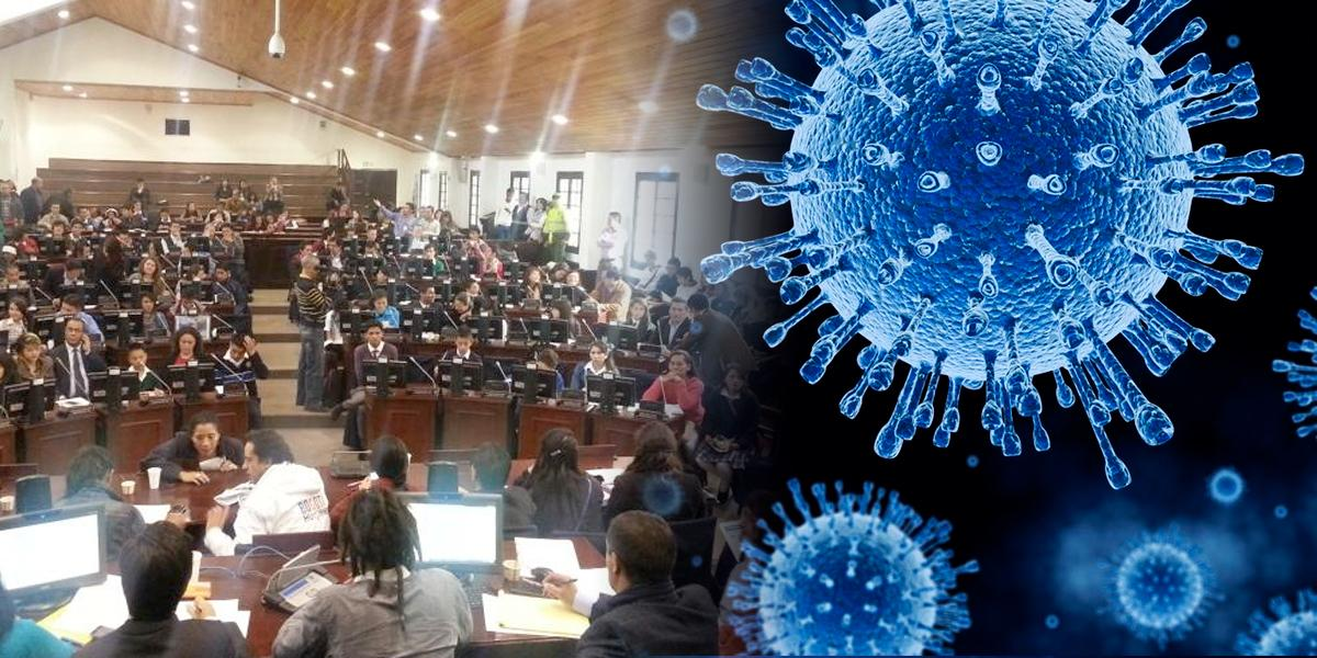 Concejo de Bogotá aplica medidas para prevenir propagación del coronavirus