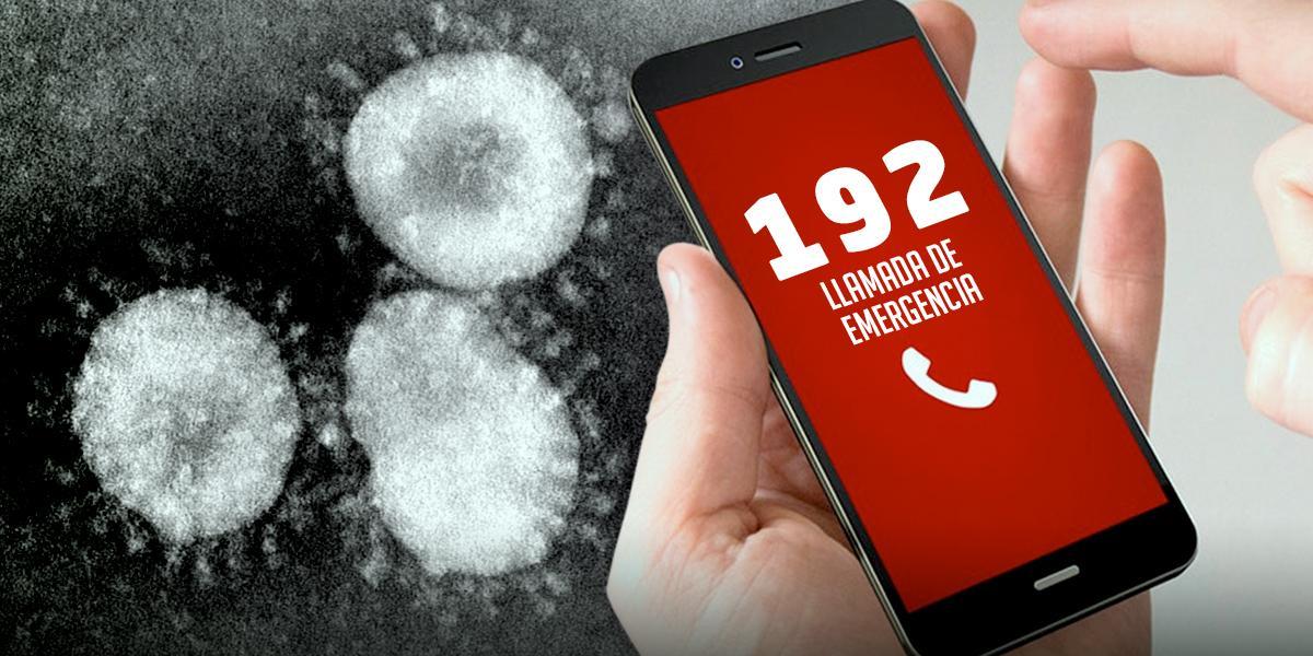 Habilitan línea gratuita 192 para orientación sobre coronavirus