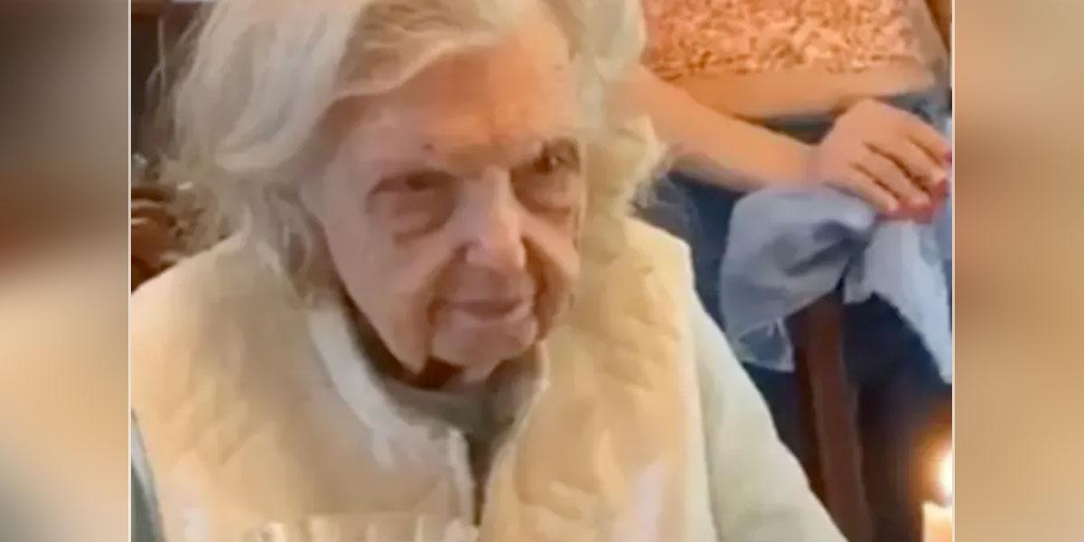 El inesperado deseo de una abuelita en su cumpleaños 94