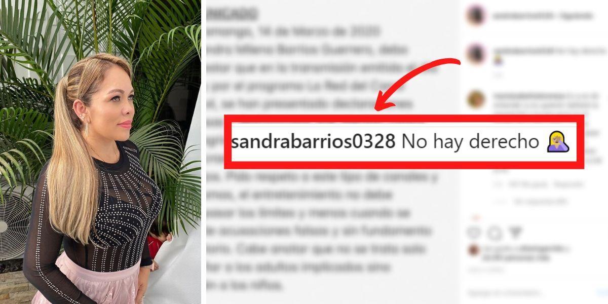 Sandra Barrios responde a acusación