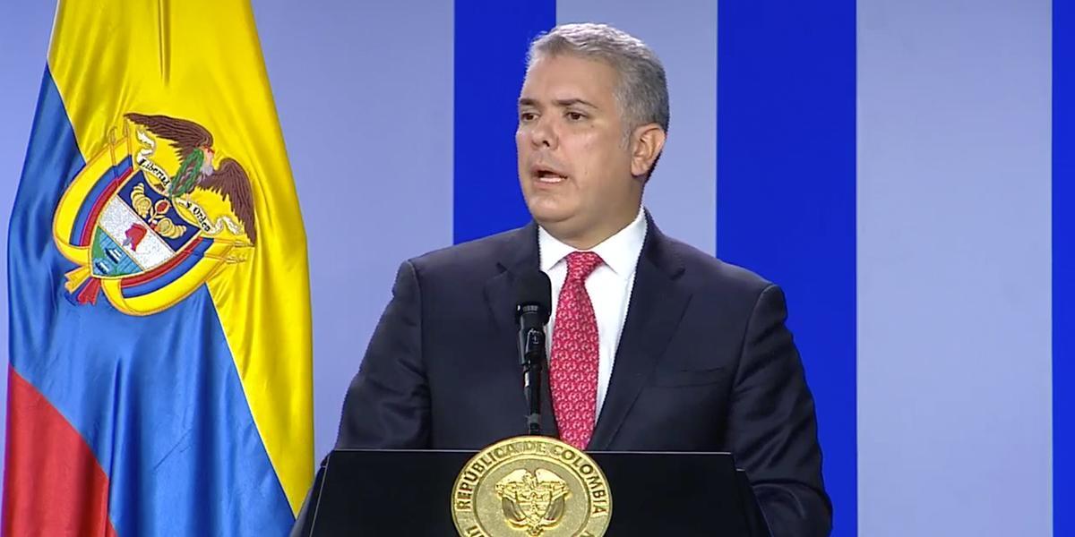 Presidente Duque anuncia que no descarta declarar conmoción nacional